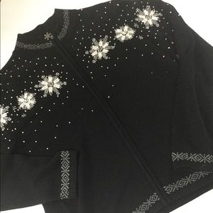 Adorable beaded Charter Club snowflake sweater